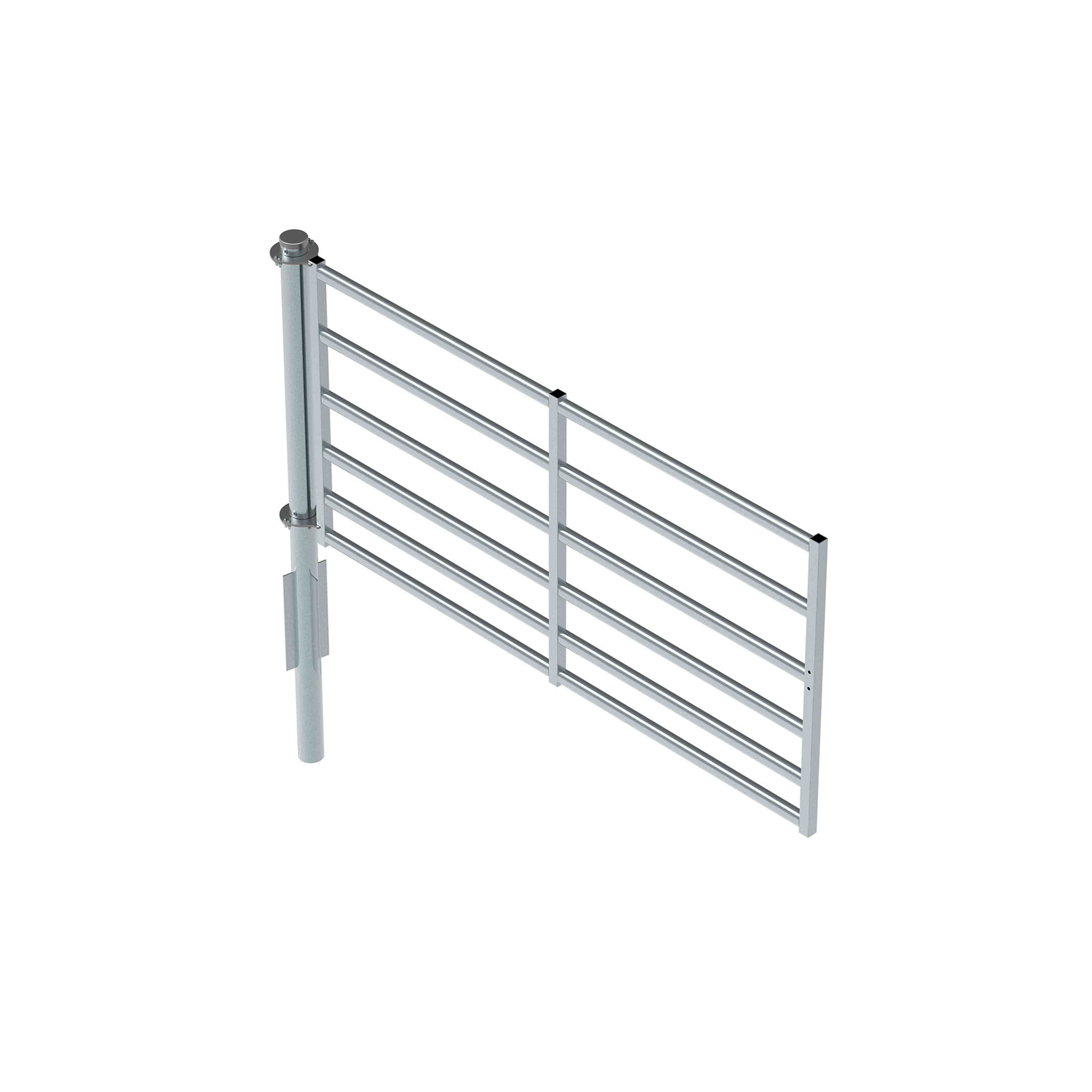 360° Pole with 2.8m x 1400H 6 rail Gate