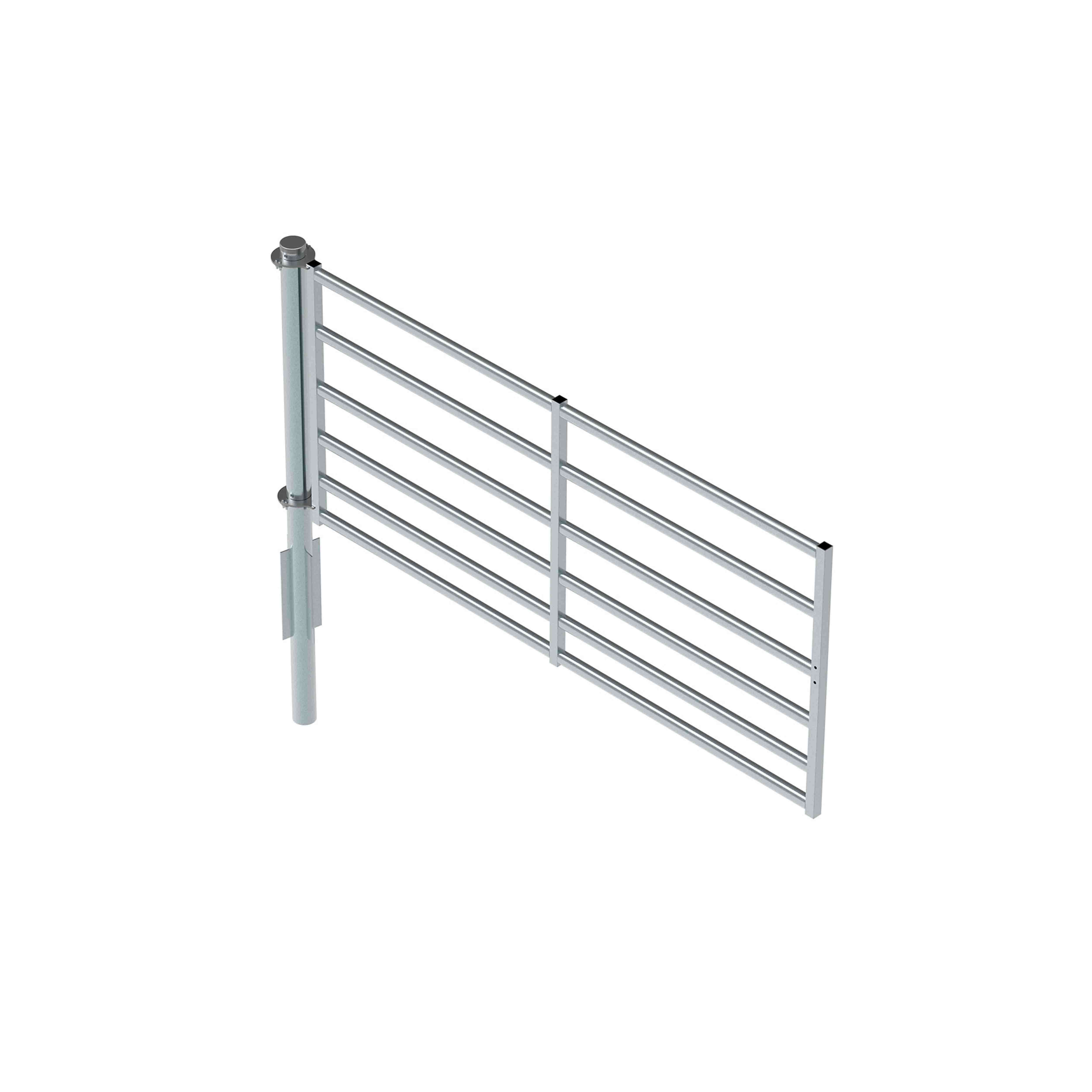 360° Pole with 3.1m x 1400H 6 rail Gate