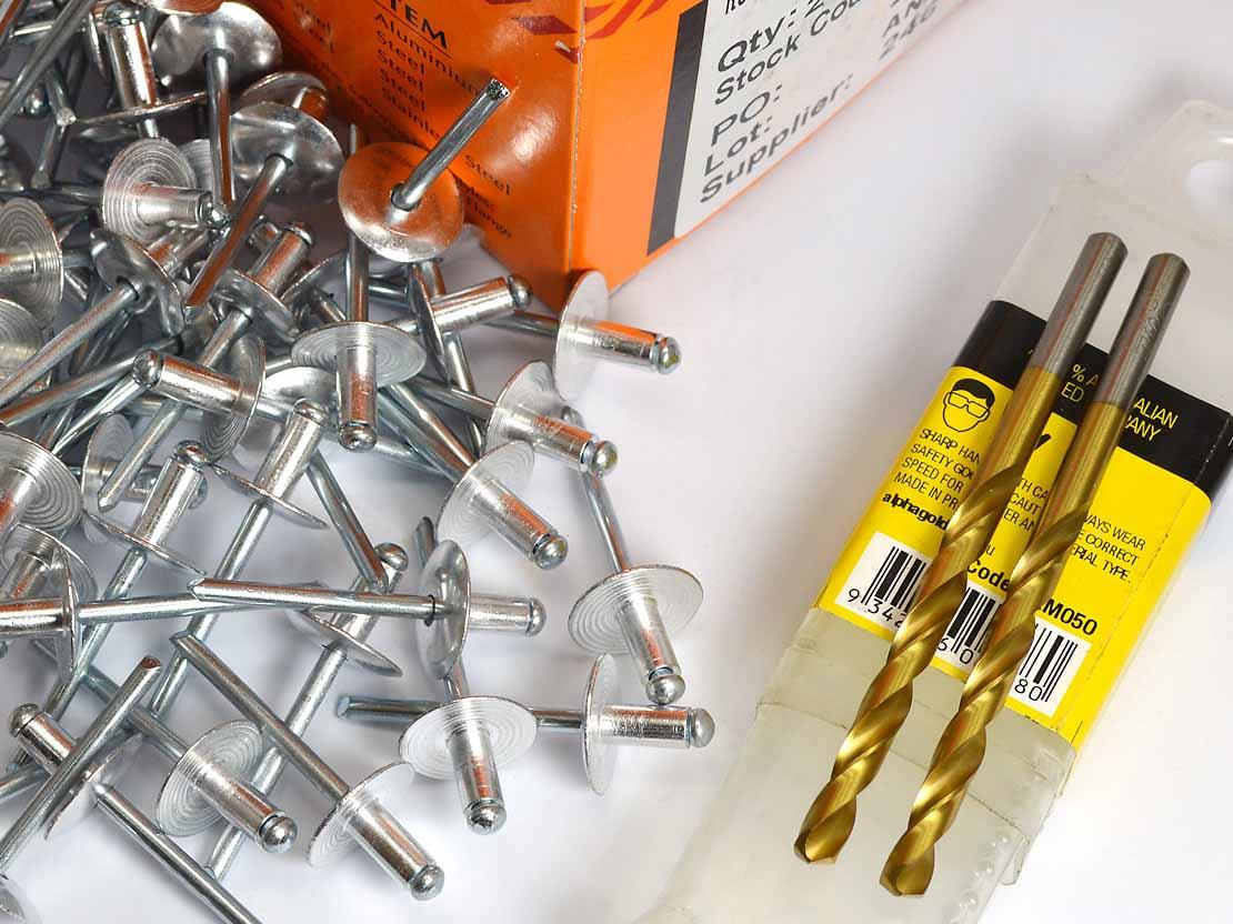 Fastener Kit - Steel Yard - 250 Rivets